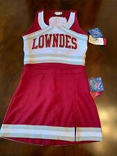 Cheer uniform white wine and silver medium adult