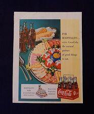 COCA COLA PAPER AD VINTAGE COKE ADVERTISING PRINT OLD MAGAZINE BACK COVER 1950