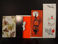 Hallmark Gibson Halloween Witch Ghost Vintage Greeting Cards Envelopes Lot of 4
