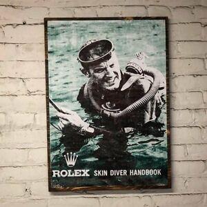 Rolex Vintage 6538 5513 16610 SKIN DIVER Art  Distressed design for submariner