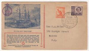 "1949 Mar 5th. Commemorative Cover. Sailing Ship ""Fortitude""."