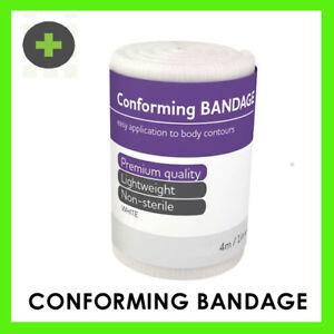 10cm Conforming Gauze Retention Bandage  x12  4m Stretched