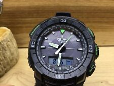 New!! Casio Protrek Solar Power Compass Men's Watch PRG550-1A1