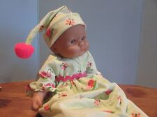 """baby doll clothes 14-16"""" g lady nightgown/cap fits berenguer/american bitty baby"""
