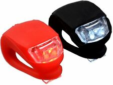 2 Pc Silicone Bicycle Bike Cycle Safety LED Head Front & Rear Tail Light Set EF