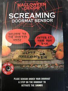 Halloween Decor Party Prop Screaming Doormat Sensor Brand New In Box