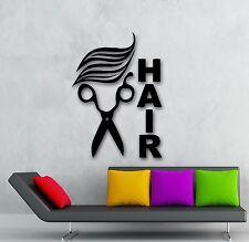 Wall Stickers Vinyl Decal Scissors Hair Hairdresser Sign Barbershop  (ig1720)