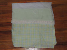 LAMBS & IVY FROG PRINCE CRIB SKIRT DUST RUFFLE  FROGGY TALES GREEN YELLOW PLAID