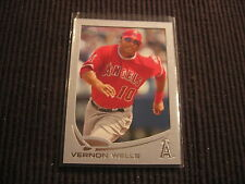 2013 TOPPS 1 #210 VERNON WELLS SILVER SLATE *FRAMED* #9/10  LOS ANGELES ANGELS