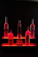 Led Lit Acrylic Bottle Display 4ft 2 Step Tier