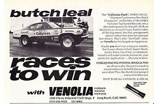 1972-1973 DUSTER  -   BUTCH LEAL PRO STOCK DRAG RACING  ~  CLASSIC PRINT AD