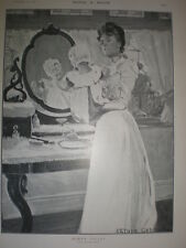 Baby'S WATER Arthur Garratt 1901 old print Baby washstand SPECCHIO