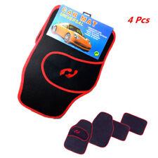 Auto Front Rear Non-slip Foot Pad Carpet Floor Mat Black/Red Prevent Wear Heel