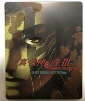 Shin Megami Tensei III NOCTURNE HD REMASTER Steelbook GEO limited PS4 JAPAN USED