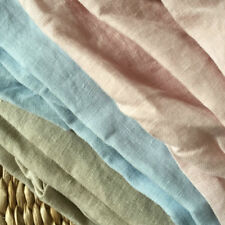 280 cm Wide Width 100% French Linen Fabric use Linen bedding sets  half meter