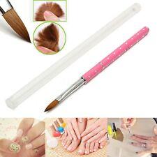 8# Kolinsky Brushes Acrylic Nail Brush Professional Nail Art Tool Metal Handle