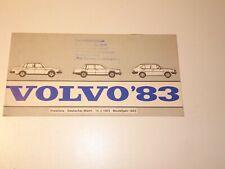 VOLVO 480 es PROSPEKT 1988 brochure auto prospetto opuscolo broschyr brosjyre auto