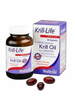 HEALTHAID KRILL-LIFE KRILL OIL 100% ANTARCTIC - 60 CAPSULES - FREE UK SHIPPING