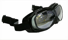Jet Ski Wakeboard FLOATING GOGGLES That FIT OVER EYEGLASSES Black w/ Tinted Lens