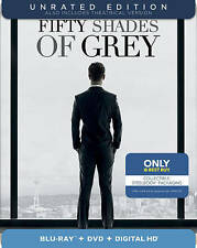 Fifty Shades of Grey (Blu-ray/DVD, 2-Disc Set  SteelBook Best buy exclusive NEW