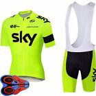 Summer Men's Cycling Jersey Set Bike Bicycle Short Sleeve Jersey Bib Shorts