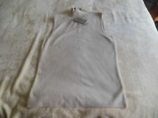 Chico's Isabel SLMock Birch Sleeveless Turtleneck New Size 0 FREE Necklace