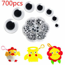 New 700Pcs/Box 7 Sizes Round Self-adhesive Wiggly Googly DIY Eyes For Doll Toy