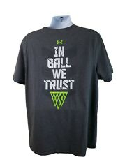 Under Armour Basketball grey t-shirt In Ball We Trust size Xxl - Free Shipping!