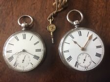 ANTIQUE SILVER VICTORIAN FUSEE POCKET WATCH. PLUS 1.