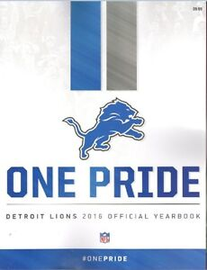 DETROIT LIONS YEARBOOK 2016 PROGRAM STAFFORD FORD 2017 SUPER BOWL CHAMPIONS?