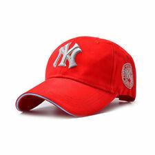 NEW Red Unisex Men Women Baseball Cap NY Snapback Sport Hip-Hop Sun Hat