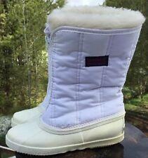 Vintage Sorel Women's Winter Rubber Boots Lined Faux Fur Size 6