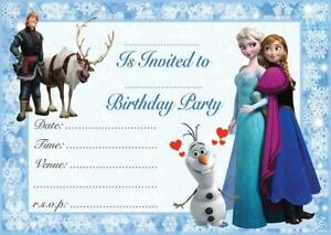 Frozen Birthday Party Invitations Princess Anna & Elsa Plus FREE Envelopes