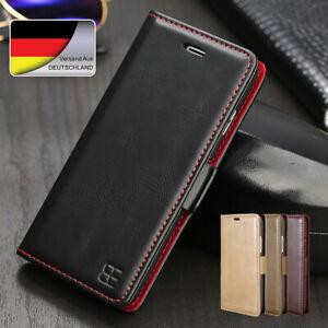 Leder Handy Tasche Klapp Wallet Etui Für Samsung Galaxy S6 Edge S7 Schale Hülle