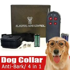 Small Medium Large Dog Remote Training Shock Collar 4in1 Function Bark Collar