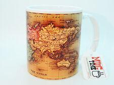 Mapa del mundo-Diseño Retro-Taza Taza-Bonito Regalo-Coleccionable-Cerámica 330 Ml