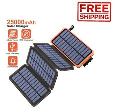 Backpack Solar Panel Phone Charger Portable Folding Camping Power Bank Laptop