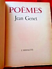 JEAN GENET POEMES  L'Arbalete 1948 1STED REVIEW COPY SP/1000 Leather HB B&W RARE