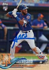 New York Mets Amed Rosario Signed Trading Card 2018 Topps Rc Rookie #70 Coa
