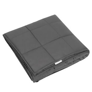 Anxiety Weighted Blanket 72 x 48 inches Twin Size 15lbs Reduce Stress All Ages