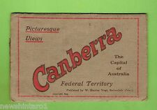 #D161. EARLY PICTORIAL SOUVENIR FOLDOUT BOOKLET OF CANBERRA ACT
