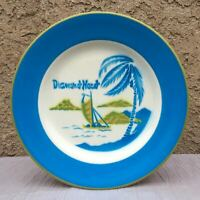 "Vintage Jackson China DIAMONDHEAD Waikiki Honolulu Hawaii 9"" Lunch Plate"