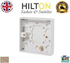 HILTON Surface Mount Back Box/Pattress Box 1 Gang 16mm 1G Slim***Best Quality***