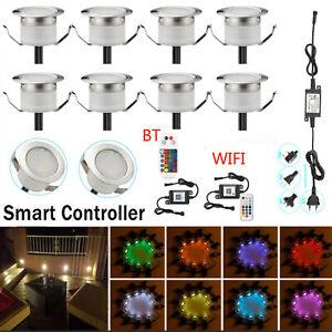 1-30xWIFI Bluetooth RGB/RGBW Colour Changing LED Deck Light Garden Lighting Lamp