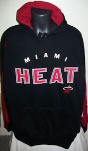 """MIAMI HEAT  """"Arms Up"""" Hooded Jacket Pull Over Hoody Big Mans BLACK RED 4X 5X 6X"""