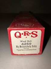 QRS Player Piano Word Roll 4259 My Melancholy Baby Fox Trot J. Lawrence Cook
