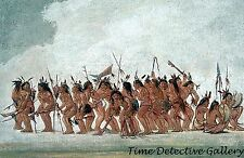 Sioux Dog Dance at Fort Snelling by George Catlin - 1836 - Historic Art Print
