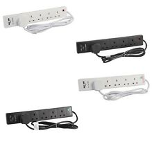 EXTENSION LEAD 5 GANG 2m WITH 2 USB SOCKETS 5 GANG 2m 5m 1m EXTENTION LEAD WHITE
