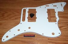 Fender 60's Jazzmaster Pickguard Relic 3 Ply White Electric Guitar Parts Project
