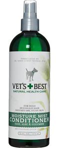 VET'S BEST Moisture Mist Hair Detangler Moisturiser Pet Conditioner Spray 470ml
